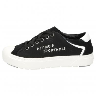 Heybrid Sneaker m. Stickerei schwarz
