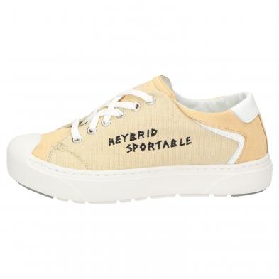 Heybrid Sneaker m. Stickerei beige