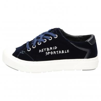 Heybrid Sneaker Samt navy