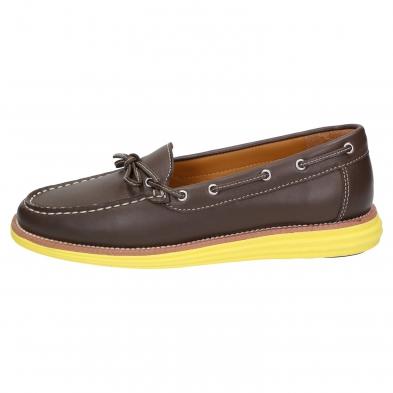 SENSOMO IV Damen Loafer braun/gelb