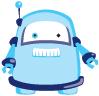 DUX chung shi-Bit Roboter blau