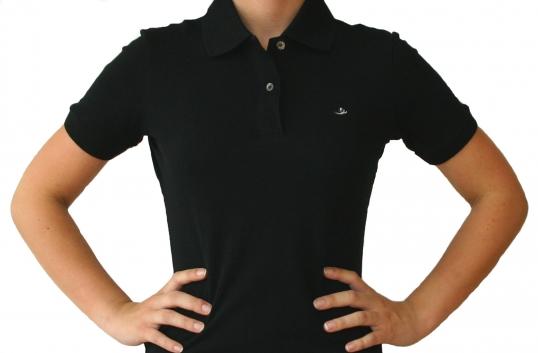 Poloshirt Damen schwarz