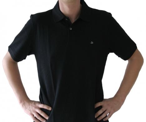 Poloshirt Herren schwarz