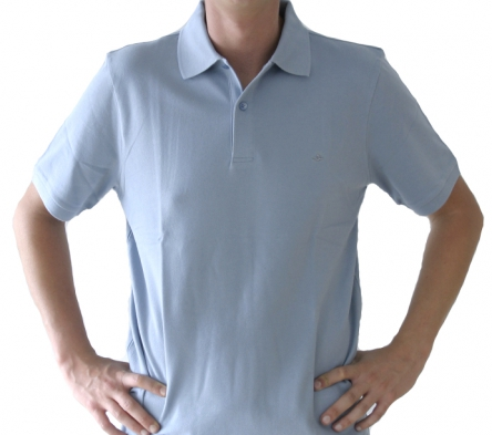 Poloshirt Herren eisblau