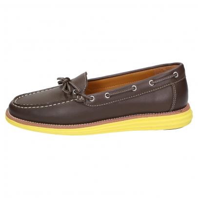 SENSOMO IV Damen Loafer braun/gelb , Größe: 40,0 40,0