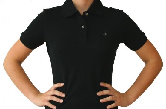 Poloshirt Damen schwarz , Größe: M (40) M (40)