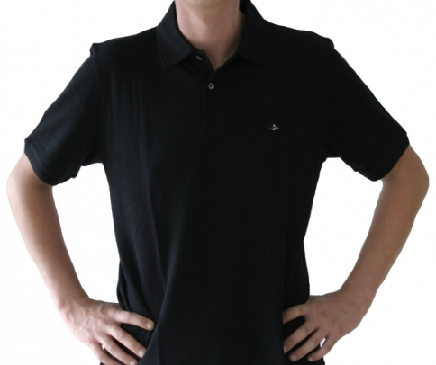 Poloshirt Herren schwarz , Größe: XL (43/44) XL (43/44)