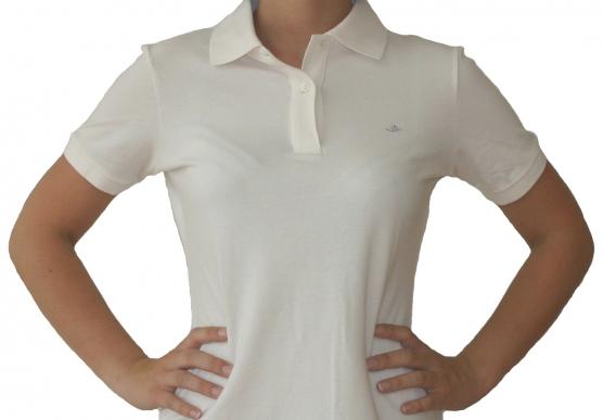 Poloshirt Damen weiss , Größe: XXL (46) XXL (46)