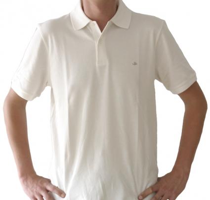 Poloshirt Herren weiss , Größe: M (39/40) M (39/40)