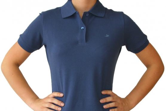 Poloshirt Damen navy , Größe: L (42) L (42)