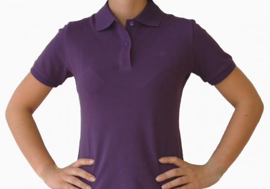 Poloshirt Damen indigo lila , Größe: XL (44) XL (44)