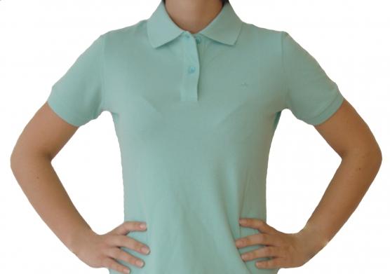 Poloshirt Damen mint , Größe: L (42) L (42)