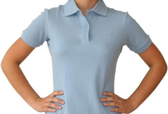 Poloshirt Damen eisblau , Größe: XL (44) XL (44)