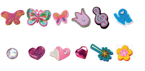 """DUX chung shi-Bits Set """"Love & Flowers"""" 1 Set (=12 Stck gemischt)"""