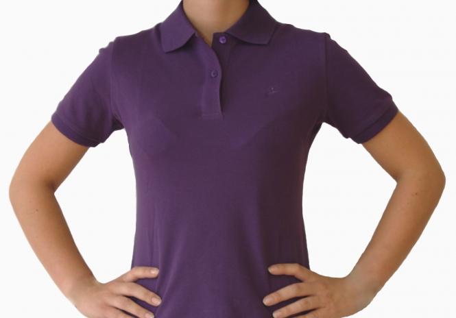 Poloshirt Damen indigo lila